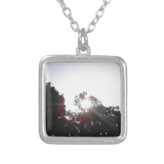 Sun Rays Silver Plated Necklace