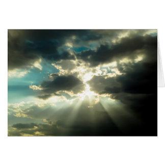 Sun Rays Thru The Clouds Card