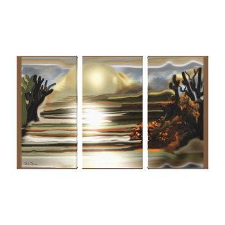 Sun Rise On the Desert Southwestern Abstract Art Canvas Print