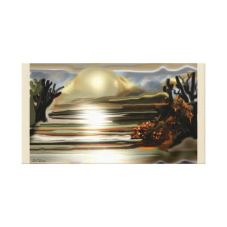 Sun Rise On the Desert Southwestern Abstract Art Canvas Print
