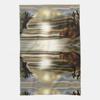 Sun Rise On the Desert Southwestern Abstract Art Kitchen Towel