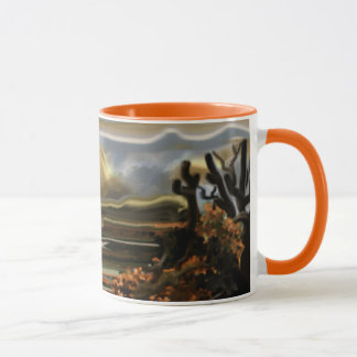 Sun Rise On the Desert Southwestern Abstract Art Mug