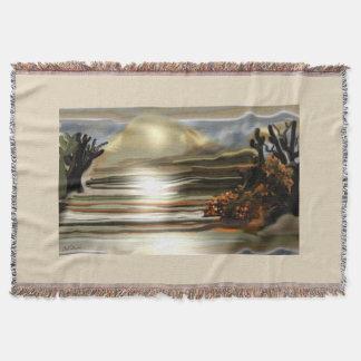 Sun Rise On the Desert Southwestern Abstract Art Throw Blanket