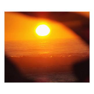 sun rise photo print