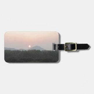 sun rise sun set bag tag