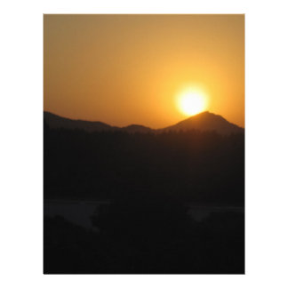 sun rise sun set custom letterhead