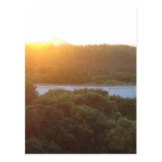 Sun rise sun set postcard