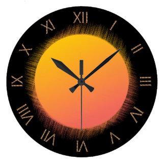 Sun Roman Numeral Large Clock