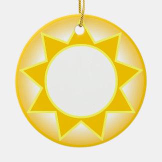 Sun Round Ceramic Ornament