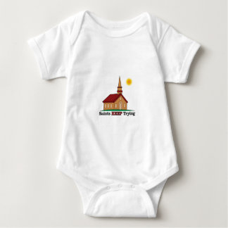 sun saints keep trying baby bodysuit