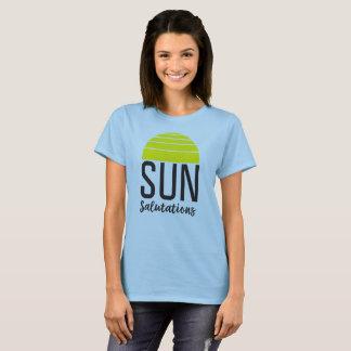 Sun Salutations with Illustrated Rising Sun T-Shirt