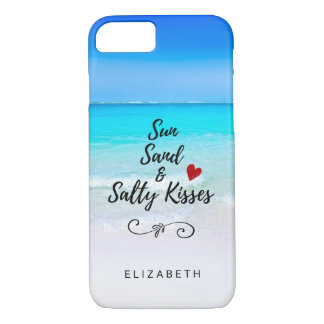 Sun Sand and Salty Kisses Tropical Beach Custom Case-Mate iPhone Case