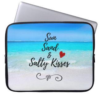 Sun Sand and Salty Kisses Tropical Beach Laptop Sleeve