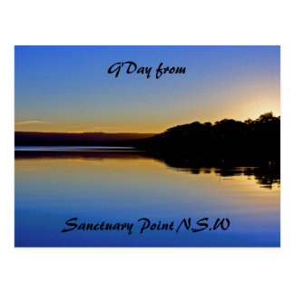 Sun says Goodbye, G'Day from, Sanctuary Point N... Postcard