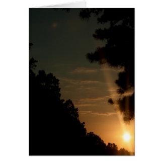 Sun set 1 card