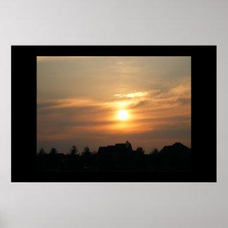 Sun set at Dusk Poster