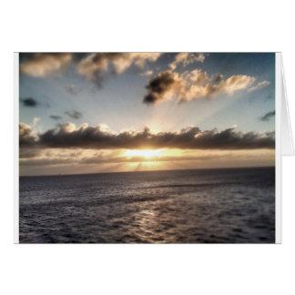 Sun set greeting card