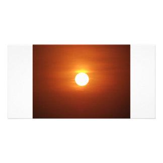 sun set customized photo card