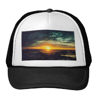 SUN SET GJ (2) TRUCKER HAT