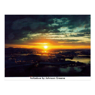 SUN SET GJ, kotzebue by Johnson Greene Postcard