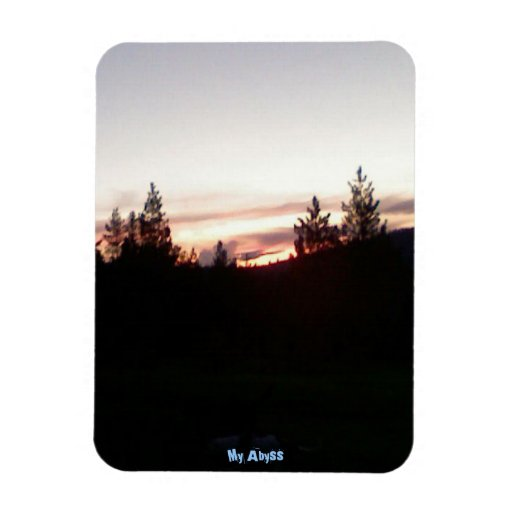 Sun set in the woods magnets