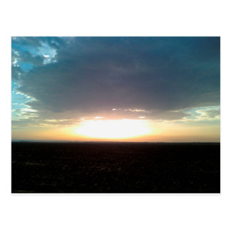 Sun Set on Morocco Atlas Hills postcard