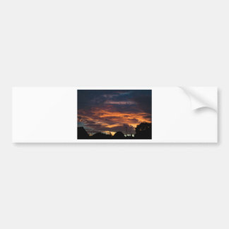 Sun set over Yorkshire Bumper Sticker