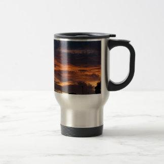 Sun set over Yorkshire Travel Mug