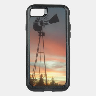 Sun set windmill OtterBox commuter iPhone 8/7 case