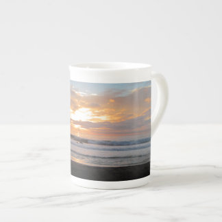 Sun Sets on Snoozing Elephant Seals Tea Cup
