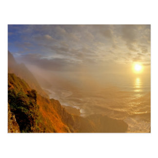 Sun sets over the Pacific Ocean from Heceta Postcard