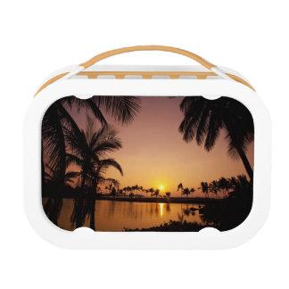 Sun setting on Anaeho'omalu Bay, Big Island, Lunch Box