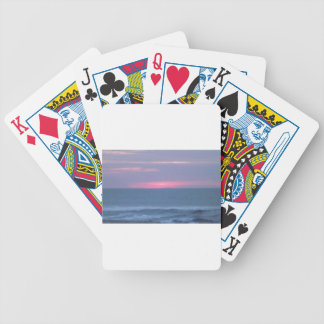 Sun Setting Over The Ocean Bicycle Playing Cards