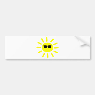 Sun Shades Sun Bumper Sticker