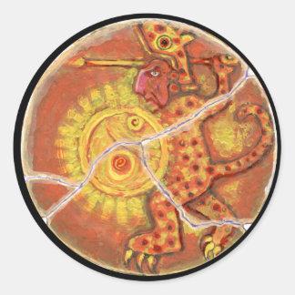 Sun shield colour - Amazing Mexico Button Classic Round Sticker