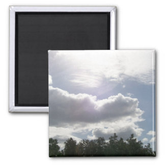 Sun Shines through Clouds Magnet