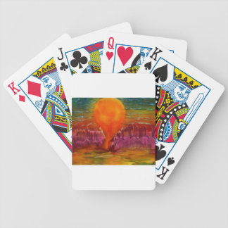 Sun shining on lake bicycle playing cards