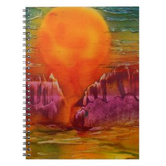 Sun shining on lake notebooks