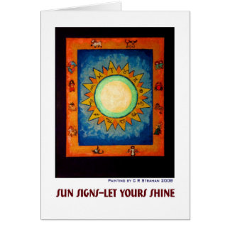 Sun Signs--Let Yours Shine Card