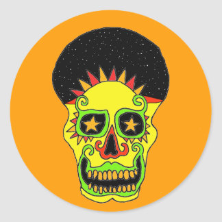 Sun Skull sticker day & night