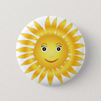 Sun smile 2 inch round button