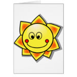 Sun Smiley, Happy Sun Greeting Card
