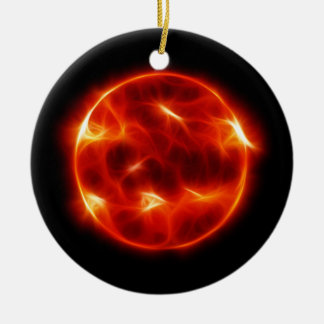 Sun Sol Star Sphere Round Ceramic Ornament