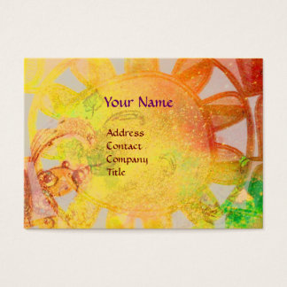SUN SOLAR ENERGY  MONOGRAM Yellow Blue Brown Business Card