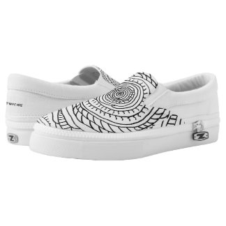 Sun Spiral Coloring Slip-On Sneakers