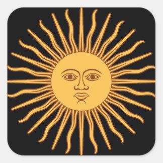 Sun Square Sticker