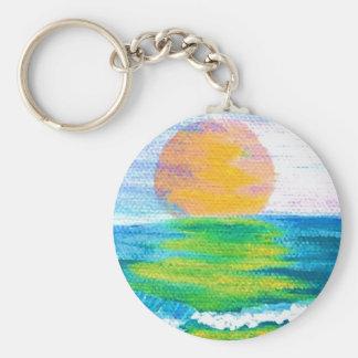 Sun Stance CricketDiane Ocean Art Design Products Keychain