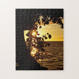 Sun Star Through The Leaves Jigsaw Puzzle