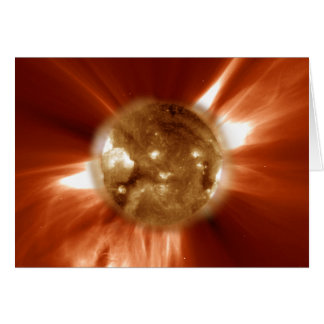 Sun Storm Taken From The SOHO Orbiting Space Lab Greeting Card