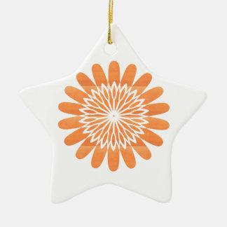 SUN Sunflower Sparkle Orange Round NVN700 gifts fu Ceramic Ornament
